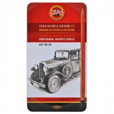Koh-I-Noor Toison D'or 1510, 12db-os grafitceruza készlet 8B-2H