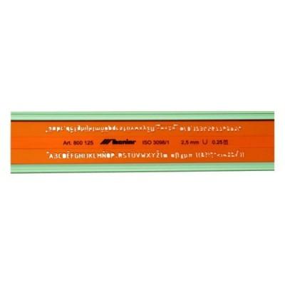 Leniar betűsablon 5,0mm