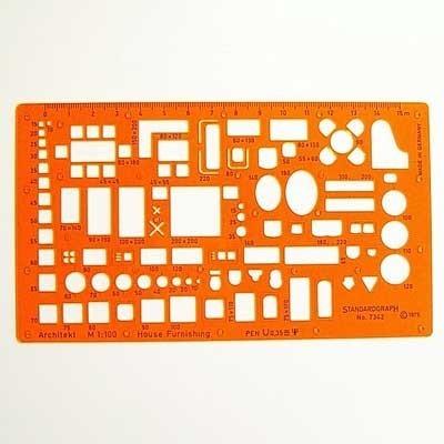 Standardgraph 7342 bútorsablon 1:100