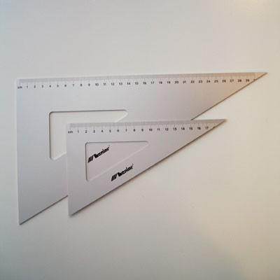 Leniar alumínium háromszög vonalzó 60º
