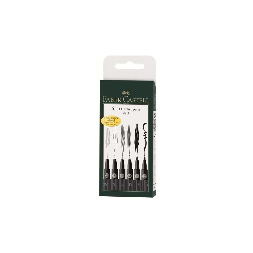 Faber-Castell Brush marker 6db-os, fekete