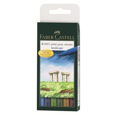 Faber-Castell PITT Art Landscape ecsetfilc 6db
