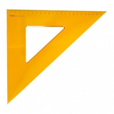 Aristo 45°-os vonalzó 24cm, sárga