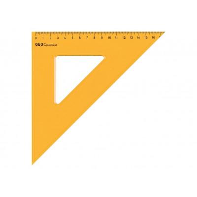 Aristo Geo Contrast vonalzó 45°, 18cm