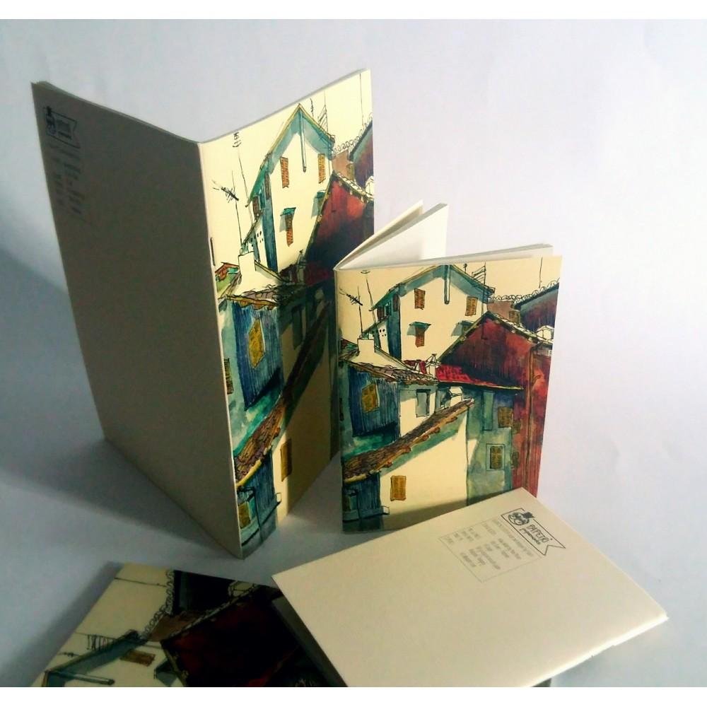 Papetri paperworks illusztrált füzet Róma Trastevere mintával A6