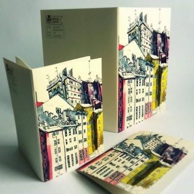 Papetri paperworks illusztrált füzet Genova Nervi mintával A5