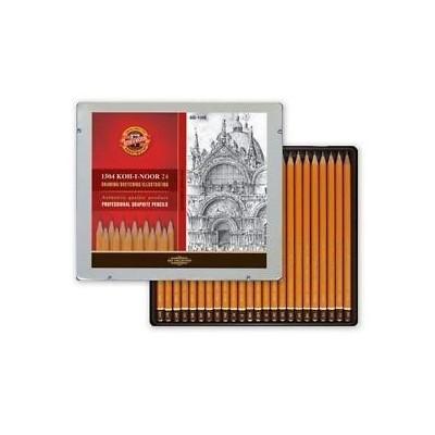 Koh-I-Noor 1500 grafitceruza készlet 8B-10H fém dobozos