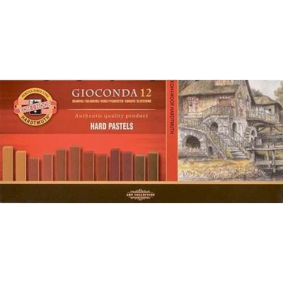 Koh-I-Noor Gioconda Hard Pastel készlet 12db földszínek