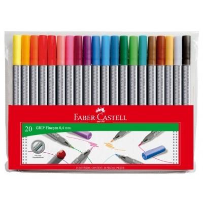 Faber-Castell Grip FinePen tűfilc 20db-os