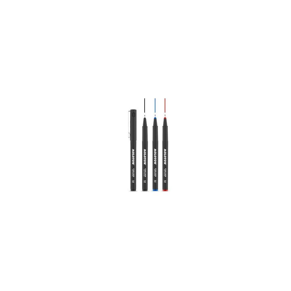 Molotow Fineliner 0.4 mm fekete/piros/kék