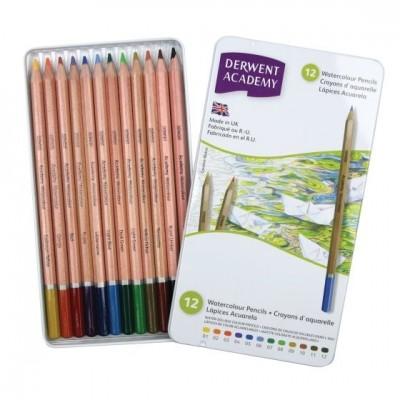 Derwent Academy 12db-os akvarell ceruza készlet