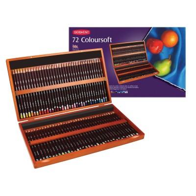 Derwent Coloursoft 72db-os színes ceruza készlet
