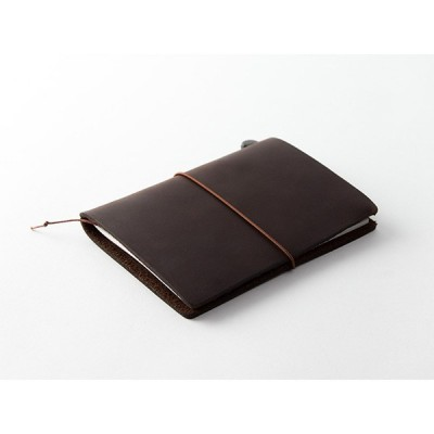 MIDORI Traveller's Notebook Passport Size - Barna bőr borító
