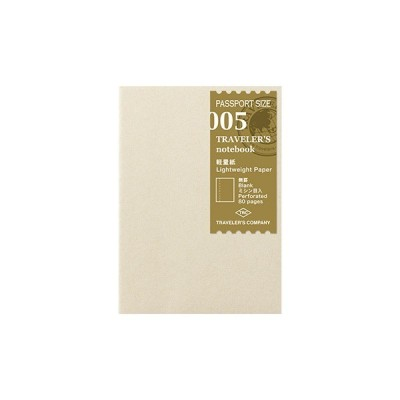 MIDORI Traveller's Passport Notebook Refill - Kraft paper