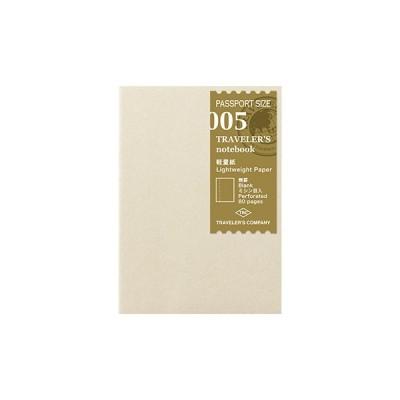 MIDORI Traveller's Passport Notebook Refill - Kraft paper