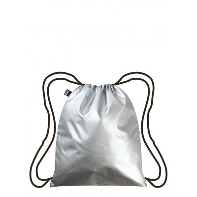 LOQI hátizsák (gym bag), Metallic – Silver