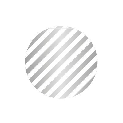 MT (washi) CASA SEAL stripe silver round 50mm, 10 db