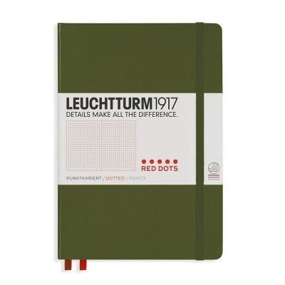LEUCHTTURM1917 Medium A5  piros pontozott lapos NOTEBOOK