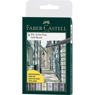 Faber-Castell Pitt Artist Pen Soft Brush Grey