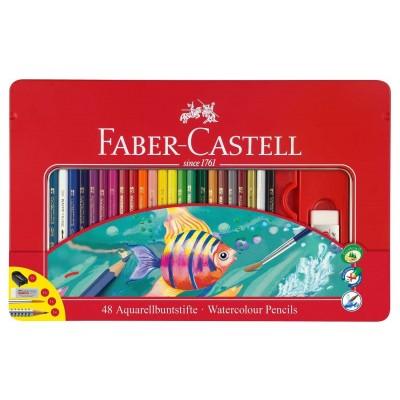 Faber-Castell akvarell szinesceruza 48db-os fém dobozban