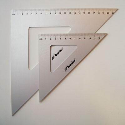 Leniar alumínium háromszög vonalzó 45º / 50 cm