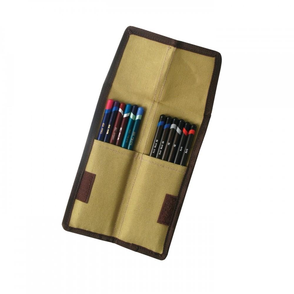 Derwent zsebes ceruzatartó textilből, 6+6db