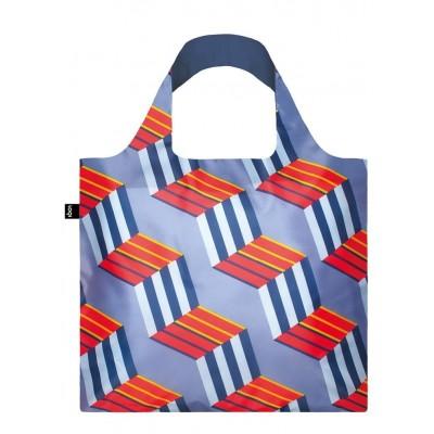 LOQI bevásárló táska, Geometric - Cubes