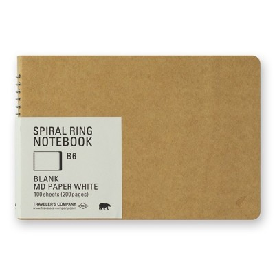 MIDORI Spiral Ring Notebook B7- jegesmedve