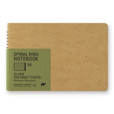 MIDORI Spiral Ring Notebook A6 - jegesmedve