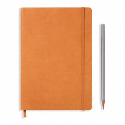 LEUCHTTURM1917 Leather A5 Medium pontozott lapos NOTEBOOK