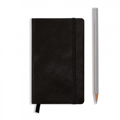 LEUCHTTURM1917 Leather Pocket A6 pontozott lapos NOTEBOOK