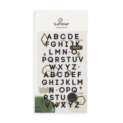 Suatelier betű matricák