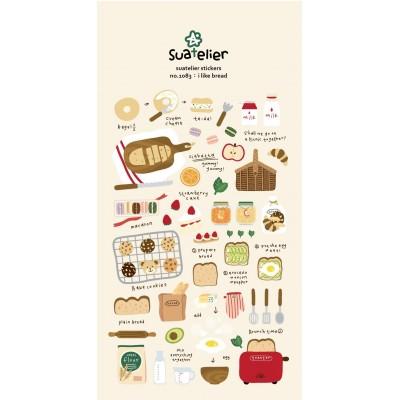 Suatelier péksütemény témájú matricák