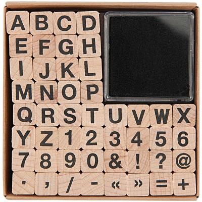 Rico 48db-os pecsétkészlet betűkkel és számokkal
