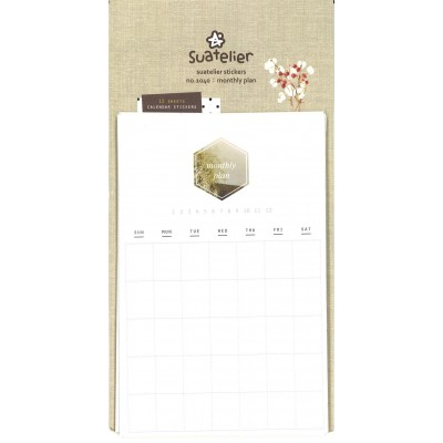 Suatelier havi naptár matricák