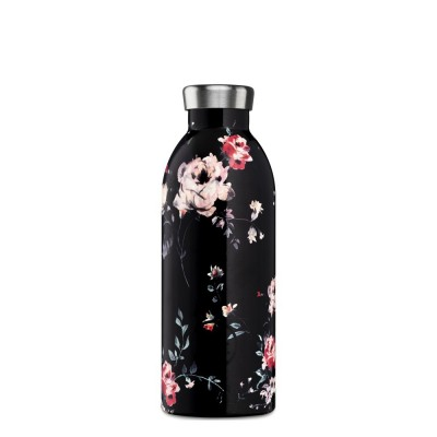 24Bottles Clima FLORAL 500 ml, termosz Ebony rose
