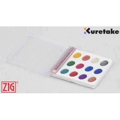 Kuretake Gansai Tambi akvarell, gyöngyház színekben