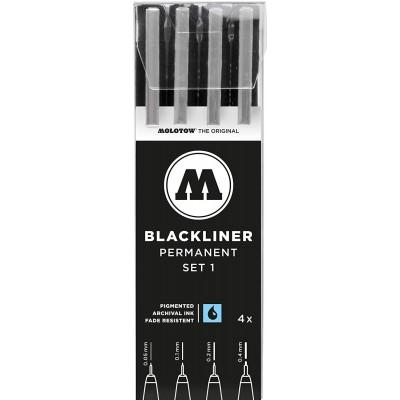 Molotow Blackliner 4db-os készlet