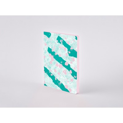 Nuuna Colour Clash L Light pontozott lapos notebook - Celebration