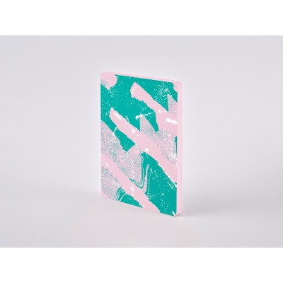 Nuuna Colour Clash L Light pontozott lapos notebook - Scratched Candy