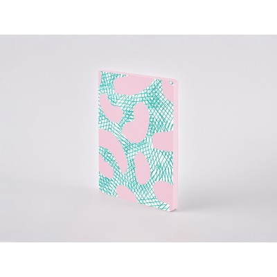 Nuuna Colour Clash L Light pontozott lapos notebook - Jumped around