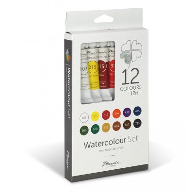 Phoenix Arts SET WATERCOLOUR 12ml
