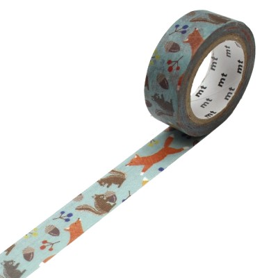MT Washi Tape - Embroidery fox and squirrel