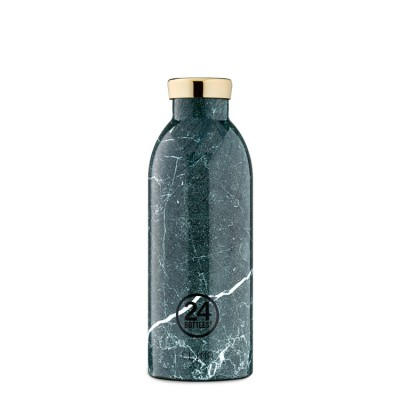 24Bottles Clima Bottle 500ml, Green Marble