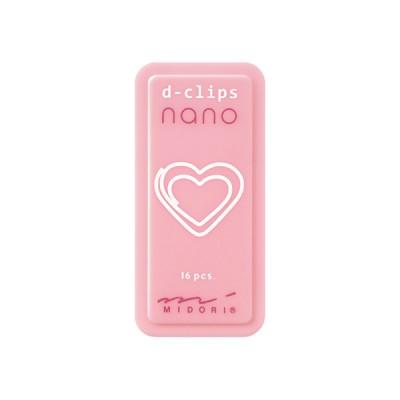 MIDORI D-Clips Nano gémkapocs, szív