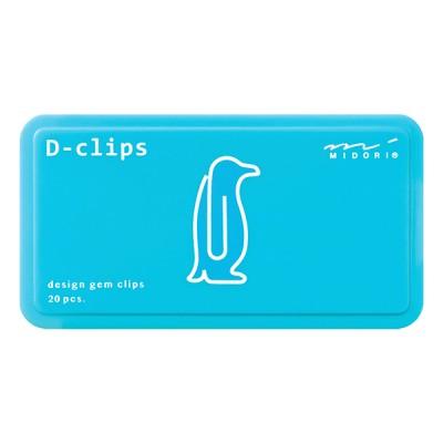 MIDORI D-Clips gémkapocs, pingvin