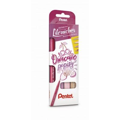 Pentel Brush Sign pen 4db-os kalligráfia filckészlet, rózsaszín színekben