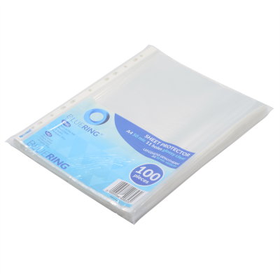 Bluering genotherm lefűzhető A4 50mic., fényes víztiszta100db