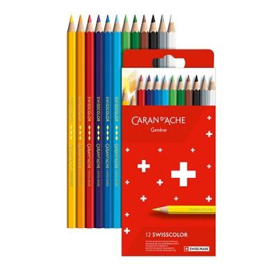 Caran d'Ache Swisscolor 12db-os színesceruza készlet