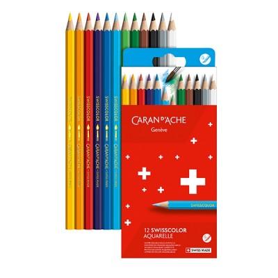 Caran d'Ache Swisscolor akvarell, 12db-os színesceruza készlet